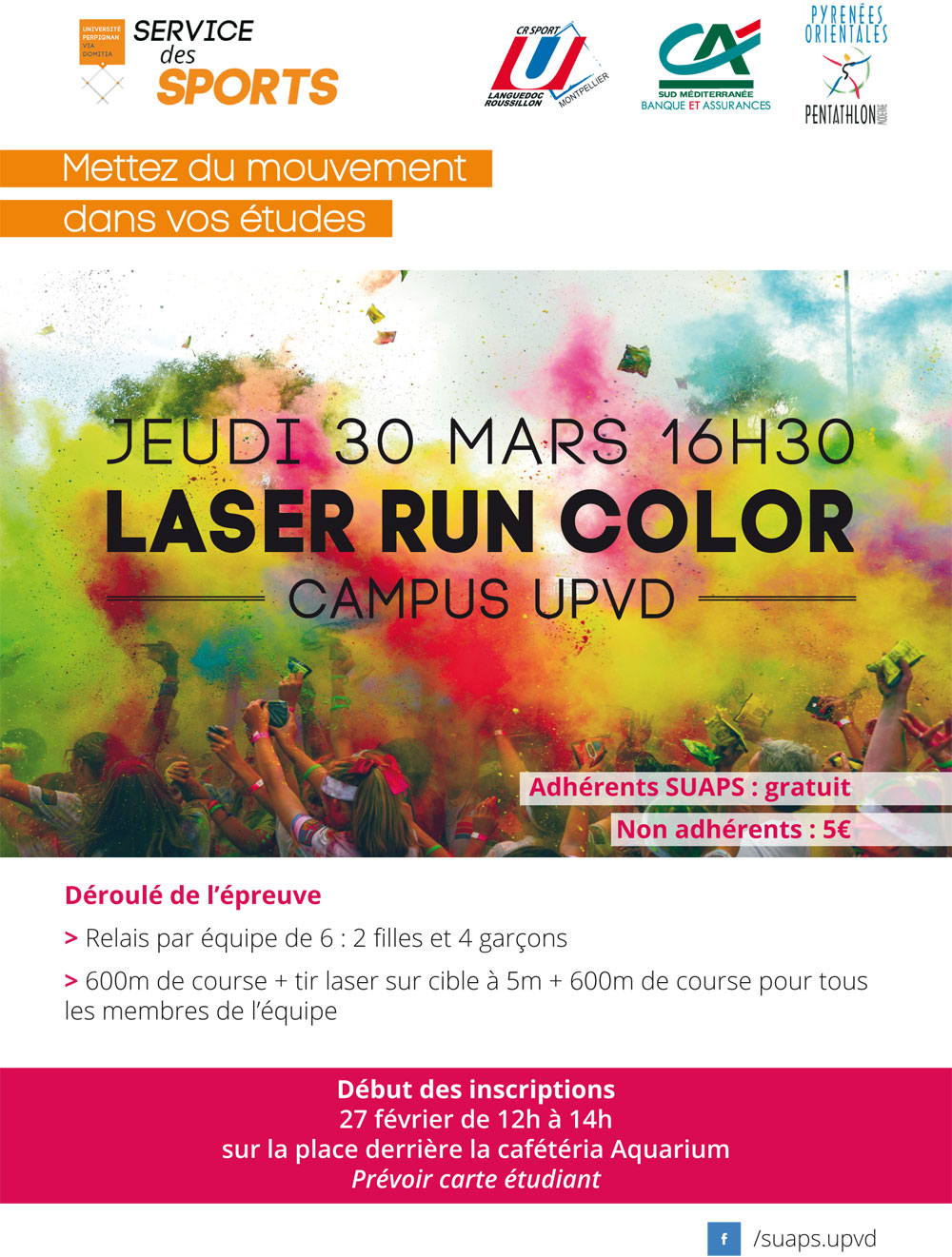 Laser run color