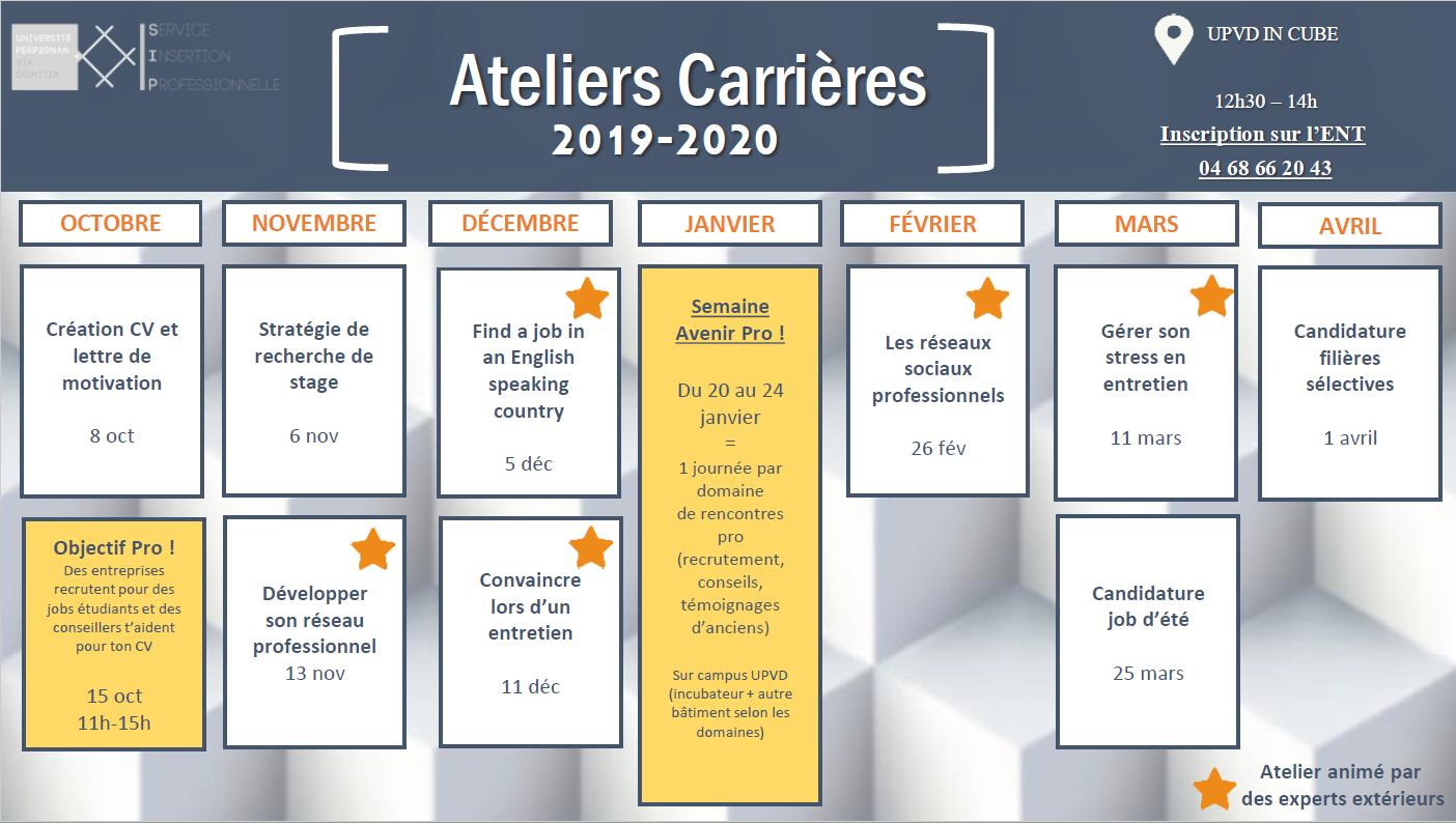 calendrier ateliers 2019-2020